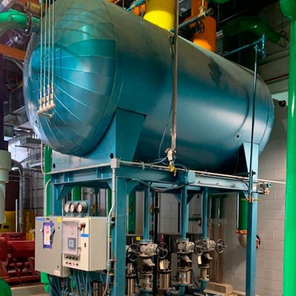 Industrial boiler tank